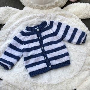 BOGO Gap Blue & White Striped Knit Sweater